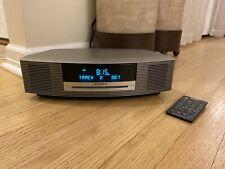 Bose Wave Radio CD Player/AM FM/Alarm Titanium Silver AWRCC1 With Remote