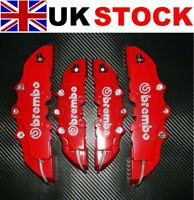 RED Brake Caliper Covers Kit 3D logo Front Rear 4pcs HQ ABS 1.0 to 2.0 M+S