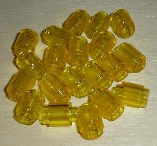 Nr.6102 Lego 3062b Steine 20 rund 1x1 transparent gelb  -  Trans-Yellow