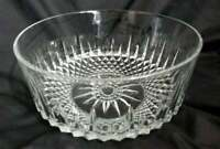 "PAIR (2) ARCOROC FRANCE BOWLS CRYSTAL CLEAR GLASS STARBURST 5"" X 2"""