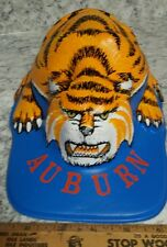 VERY RARE VINTAGE ALABAMA AUBURN TIGERS FOOTBALL HAT MOLDED PLASTIC MASCOT CAP