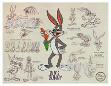 Looney Tunes Model Sheet Print featuring Bugs Bunny