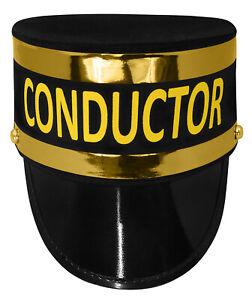 Deluxe Adult Train Conductor Engineer Gendarme Top Hat Railroad Costume Cap