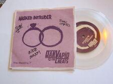 "Dan Vapid & The Cheats SIGNED + Masked Intruder 7"" Clear RARE nofx mehadones"