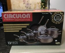New Circulon Premier Professional Non-Stick 13 Piece Bronze Cookware Set