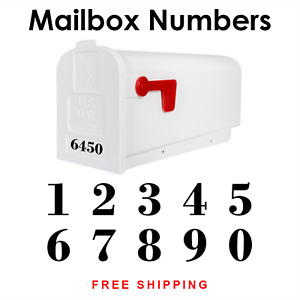 Mailbox Numbers House Number Vinyl Decal Sticker Label   HOA Approved 549