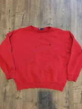 Vintage 1990s Polo Ralph Lauren Crewneck Sweater Size XL Tommy Designer Red