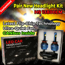H9 13800LM LED CAR HEADLIGHT KIT HIGH LOW BEAM VEHICLE REPLACE HALOGEN XENON