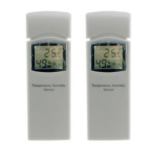 Wireless Hygrometer Thermometer Sensor WH31A for HP3001 Weather Station (2-Pack)