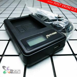 LCD Charger for Panasonic DMW-BLC12 DMW-BLC12E Battery Lumix DMC-G3 G7 GH2 GX8