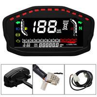 Universal Motorcycle Dashboard LCD Digital Speedometer Odometer Tachometer