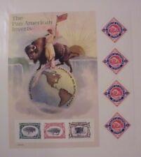 #3505 1-80 cent Pan American Expo Invert Souivnir Sheet Of 7 Cat Val $16