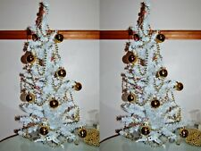 New 2 x Decorated Xmas Christmas Tree Baubles Battery Lights Bead Chain Table