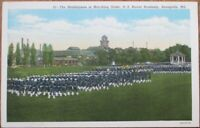 Annapolis, MD 1940 Postcard: Midshipmen in Marching Order - Maryland
