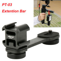 Ulanzi PT-3 Extention Bar Grip 3 Cold Shoe Mounts L Bracket for DJI OSMO Canon