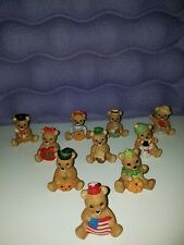 Homco 1413 Calendar Bears Set of 10 Figurines Vintage Holidays Month Miniature