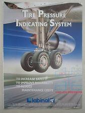 5/1989 PUB LABINAL TIRE PRESSURE INDICATING SYSTEM AIRLINER ORIGINAL AD