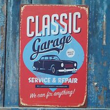 CLASSIC Car Garage Wall Plaque Poster Retro Metal Tin Signs SERVICE & REPAIR
