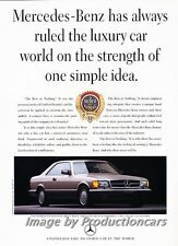 1989 Mercedes Benz 560SEC Coupe Original Advertisement Print Art Car Ad J745