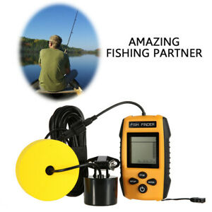 Portable Visual Ultrasonic Wired Fish Finder Sonar Depth Sounder with Alarm