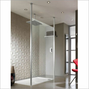 Playtime 1200mm walk-through Ceiling Fix Shower Screen - Clear Glass | RRP: £689