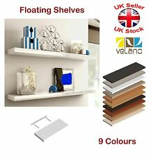 Modern Floating Wall Shelves 9 Colours 4 Lengths Bookcase Display Shelf Storage