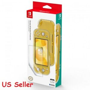 HORI Official Nintendo Switch Lite Screen & System Protector Case Set