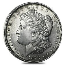 1878 Silver Morgan Dollar 7 Tailfeathers Reverse of 79 VG-XF