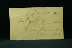 Louisiana: Minden 1850s Stampless Cover, Red CDS & PAID 3