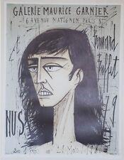 """""""Bernard BUFFET: EXPO NUS 79"""" Affiche originale entoilée Litho MOURLOT 1980"""