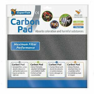 SuperFish Filter Media Pads Aquarium Pond Carbon Pad 45 x 25cm