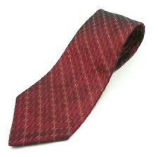 Jones New York Men's Antique Red Patterned Tie Imported Silk