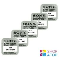 5 SONY 364 SR621SW BATTERIES SILVER OXIDE 1.55V WATCH BATTERY EXP 2021 NEW