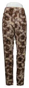 LOGO Layers by Lori Goldstein Plus Sz Leggings 1X Printed Tie-Dye Brown A392517