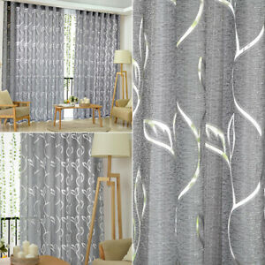 Window Doors Curtain Floral Tulle Voile Drape Panel Sheer Scarf Valance Divider