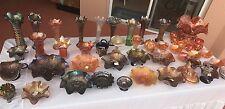 50 PIECE LOT rare antique carnival glass Northwood Fenton Imperial glassware (1)