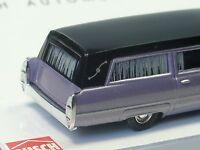 Busch Cadillac 66 Station Wagon, Corbillard, mauve - 42922 - 1/87