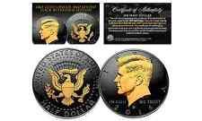 Black RUTHENIUM 2016 JFK Half Dollar U.S. Coin w/ 2-SIDED 24K Gold (Denver MINT)