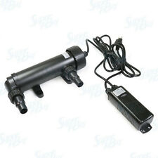 "12W UV Non-Submersible 11"" Sterilizer Light Clarifier Lamp Filter Aquarium Pond"