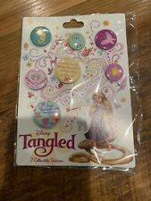 Disney Tangled 7 Collectible Buttons Pins