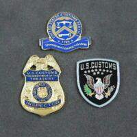 US U S Customs Inspector Border Officer Commemorative 3 Pin Set