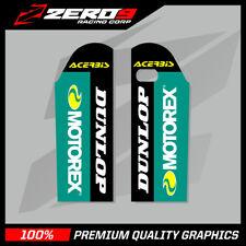KTM SX SXF 2000 - 2007 EXC 1998 - 2007 FORK DECAL MX GRAPHICS MOTOREX BLACK