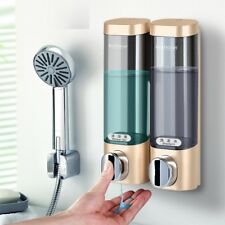 Liquid Soap Dispenser Plastic Wallmount Double Hand Bathroom Kitchen Accessories