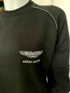 ASTON MARTIN LOGO HOODED SWEATSHIRT Black sizes S to 2XL