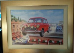 Italian Job Going For Gold Framed Canvas board By Tony Smith Limited Edition