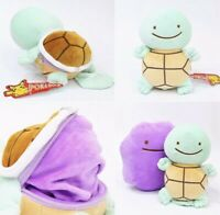 "Pokemon Ditto Squirtle Transforming Plush Stuffed Animal Toy 5"" US Seller"
