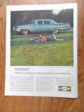 1959 Chevrolet Biscayne Sedan Ad  A New Chevy has a Special Way of Leading Life
