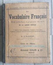 LIVRE SCOLAIRE ANCIEN VOCABULAIRE FRANÇAIS ANNÉE PRÉPARATOIRE ÉCOLE N11