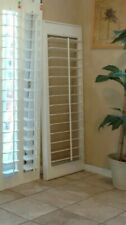 "Interior Solid Wood Plantation Shutters White,4.5"" Louvers Four Pairs Available"
