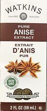 Watkins Pure Anise Extract 2 oz 59 ml USA Fresh Non Gmo Gluten Free